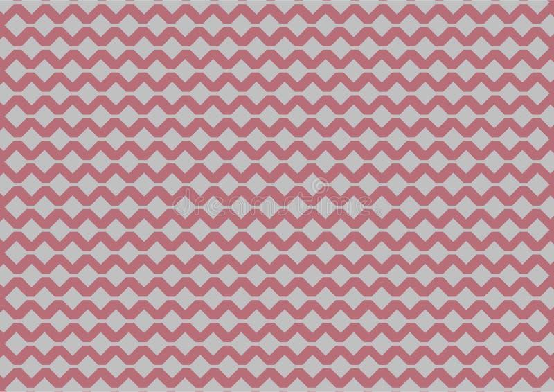 Modelo geométrico de plata en fondo del oro de la rosa del rosa libre illustration