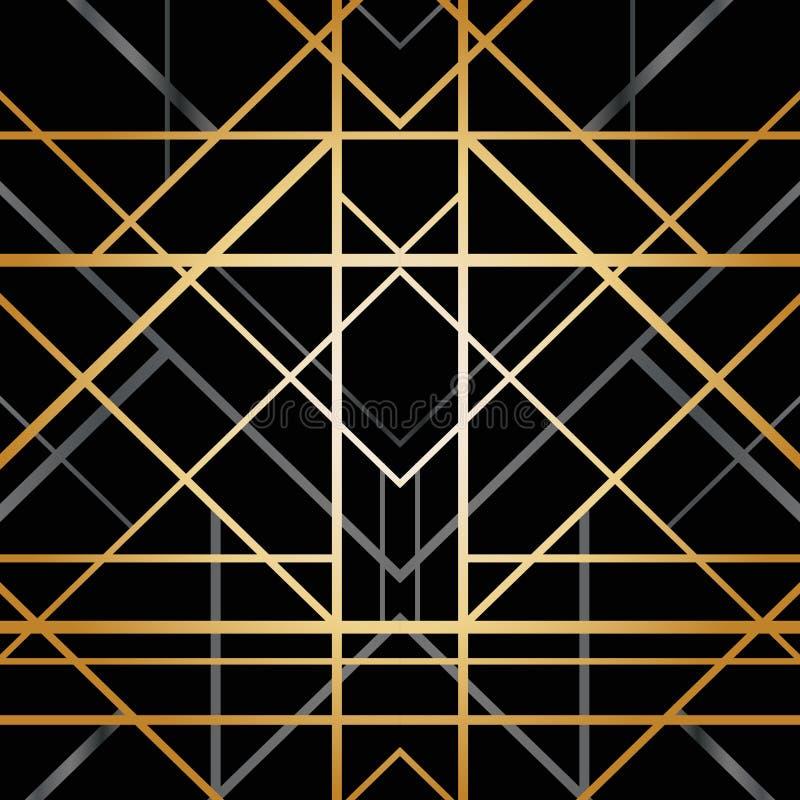 Modelo geométrico del art déco libre illustration