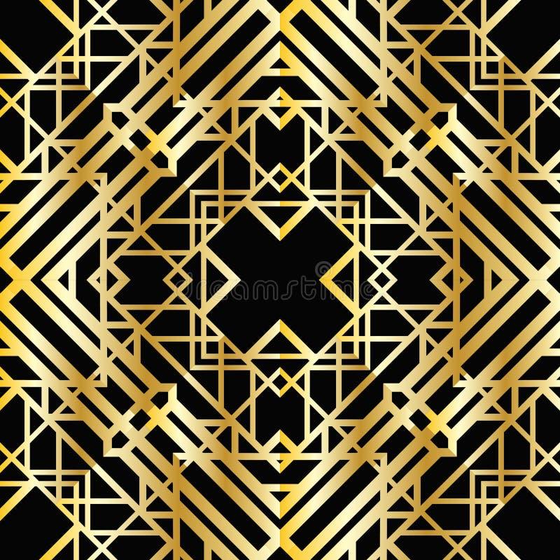 Modelo geométrico del art déco stock de ilustración