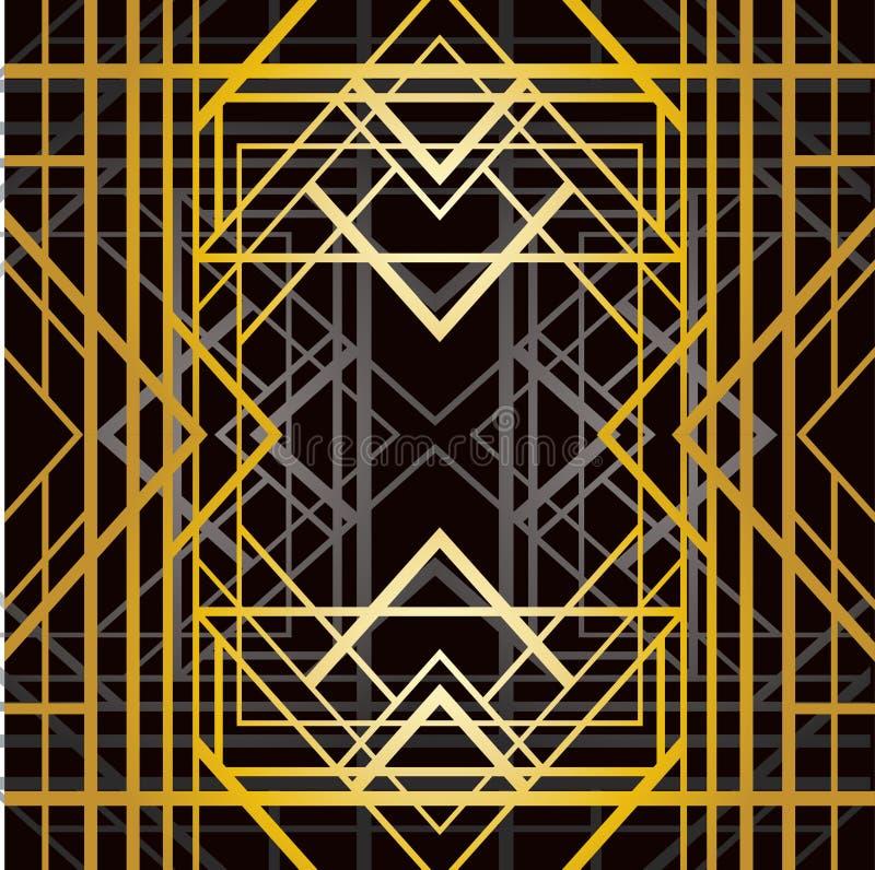 Modelo geométrico del art déco ilustración del vector