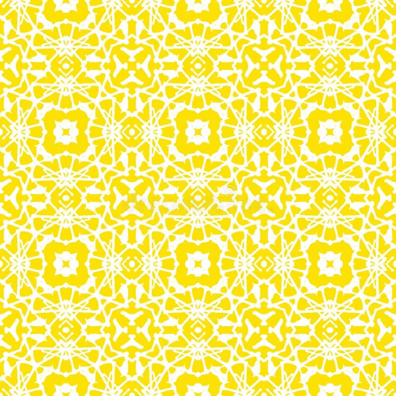 Modelo geométrico del art déco del vector en amarillo brillante stock de ilustración