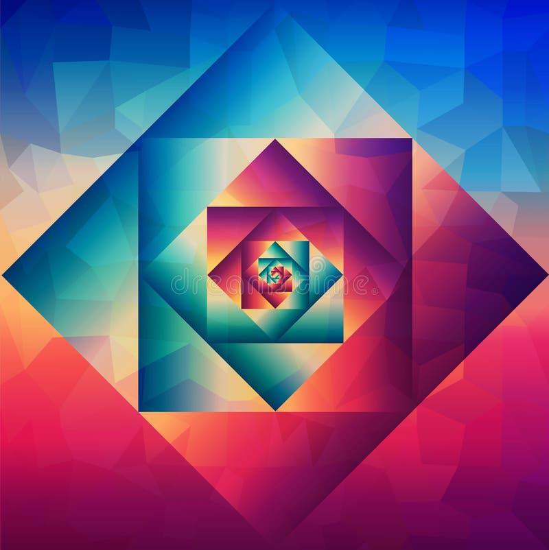 Modelo geométrico del arte óptico del vintage libre illustration