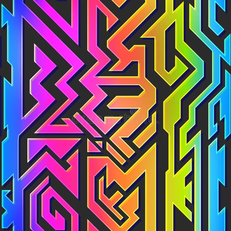 Modelo geométrico del color del arco iris foto de archivo libre de regalías