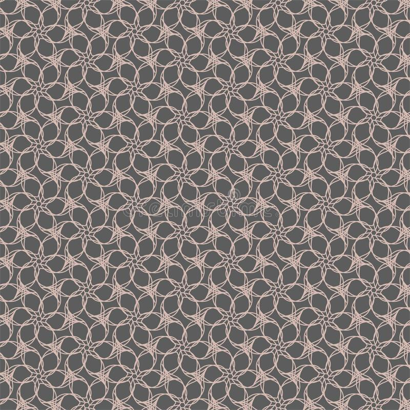 Modelo geométrico del contorno de la flor en fondo gris ilustración del vector