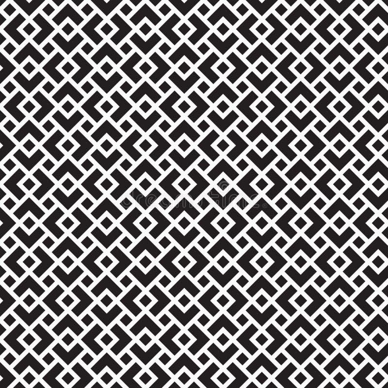 Modelo geométrico del enrejado del enrejado del vintage inconsútil stock de ilustración
