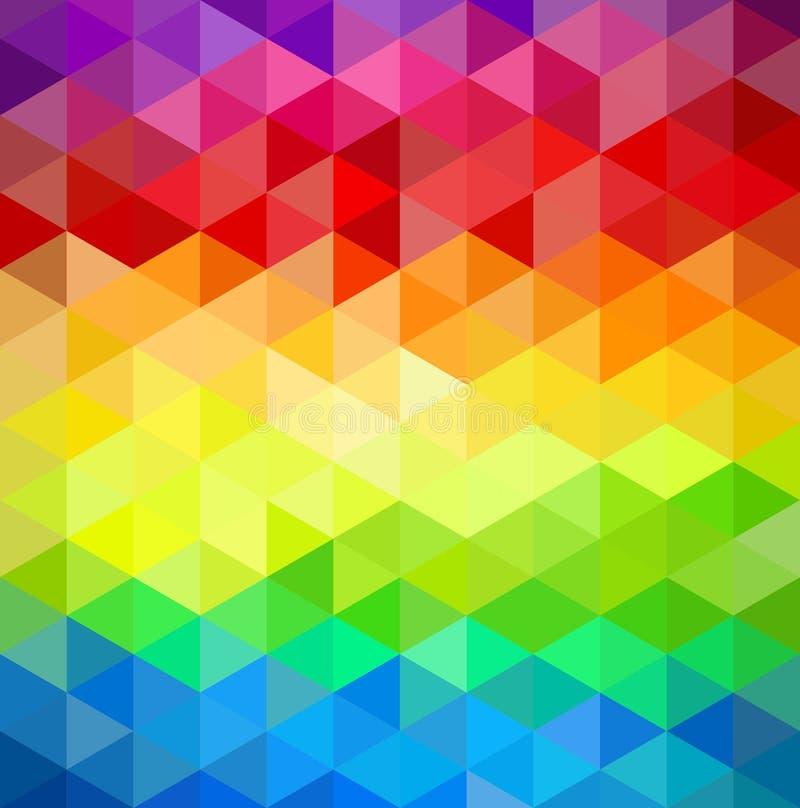 Modelo geométrico del extracto del vintage de Colorfull. ilustración del vector