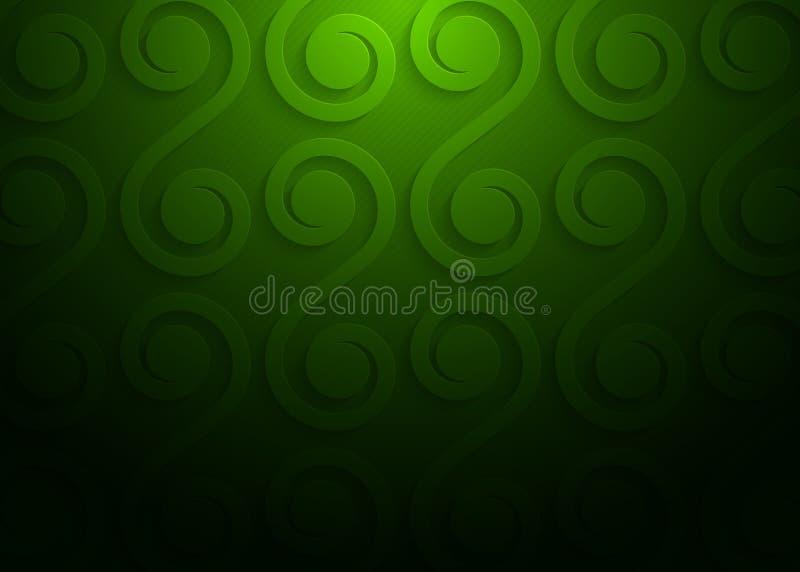 Modelo geométrico del Libro Verde, plantilla abstracta para el sitio web, bandera, tarjeta de visita, invitación del fondo libre illustration