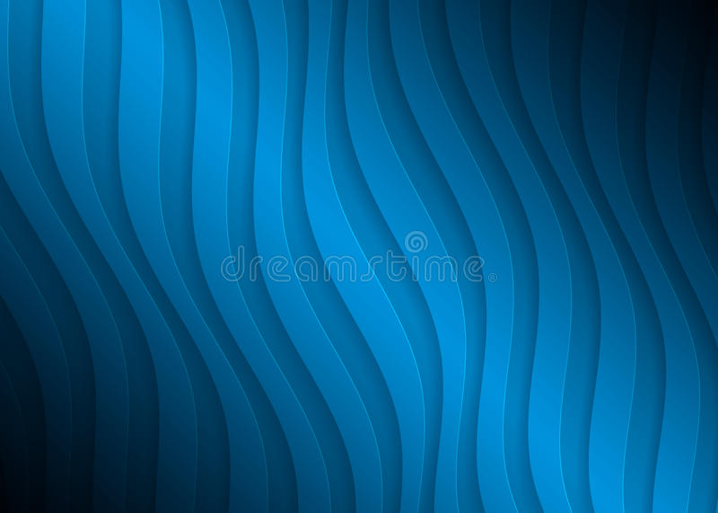 Modelo geométrico del papel azul, plantilla abstracta para el sitio web, bandera, tarjeta de visita, invitación del fondo libre illustration