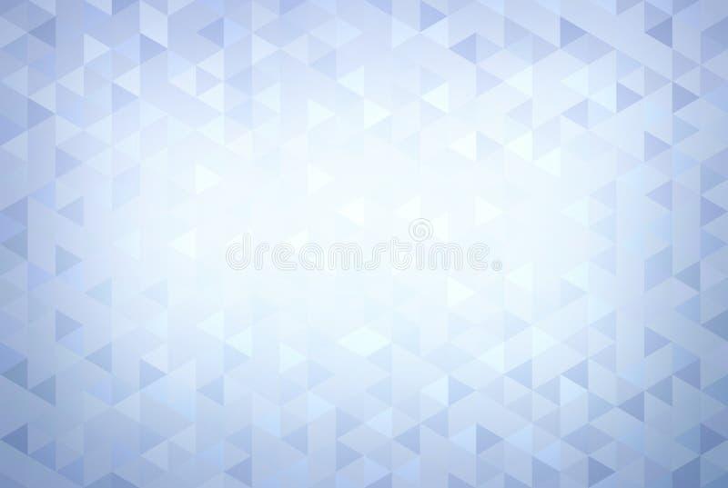 Modelo geométrico del poligon del invierno Fondo fresco del mosaico azul Papel pintado delicado de los cristales de la ilustració stock de ilustración