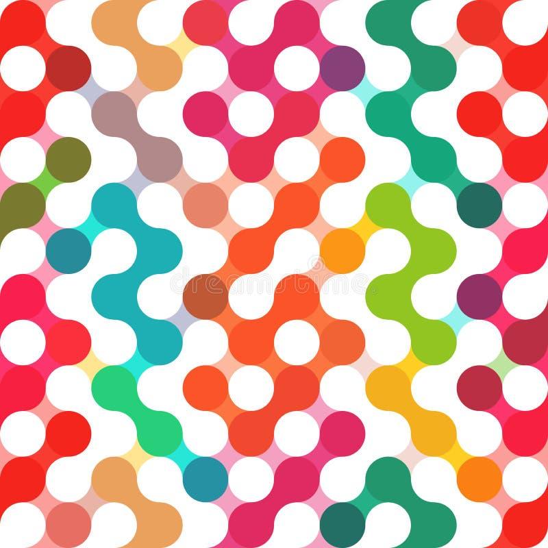 Modelo geométrico del vector de círculos Contexto inconsútil coloreado libre illustration