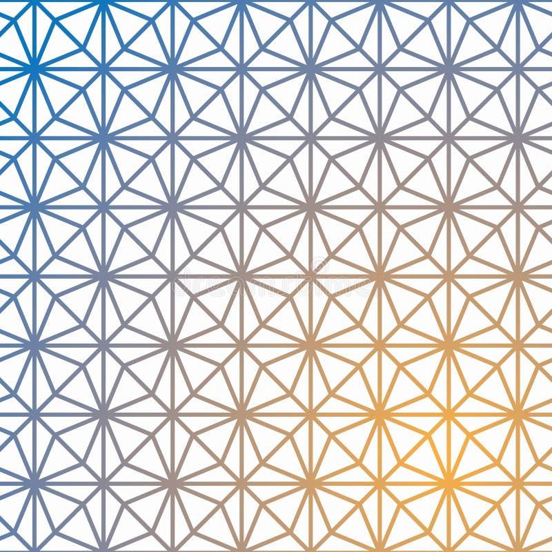 Modelo geométrico del vector de la rejilla Cubo geométrico, efecto de la estrella stock de ilustración
