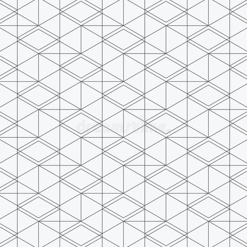 modelo geométrico del vector, repitiendo el Rhombus cuadrado linear de la forma del diamante gráfico limpie el diseño para la tel ilustración del vector