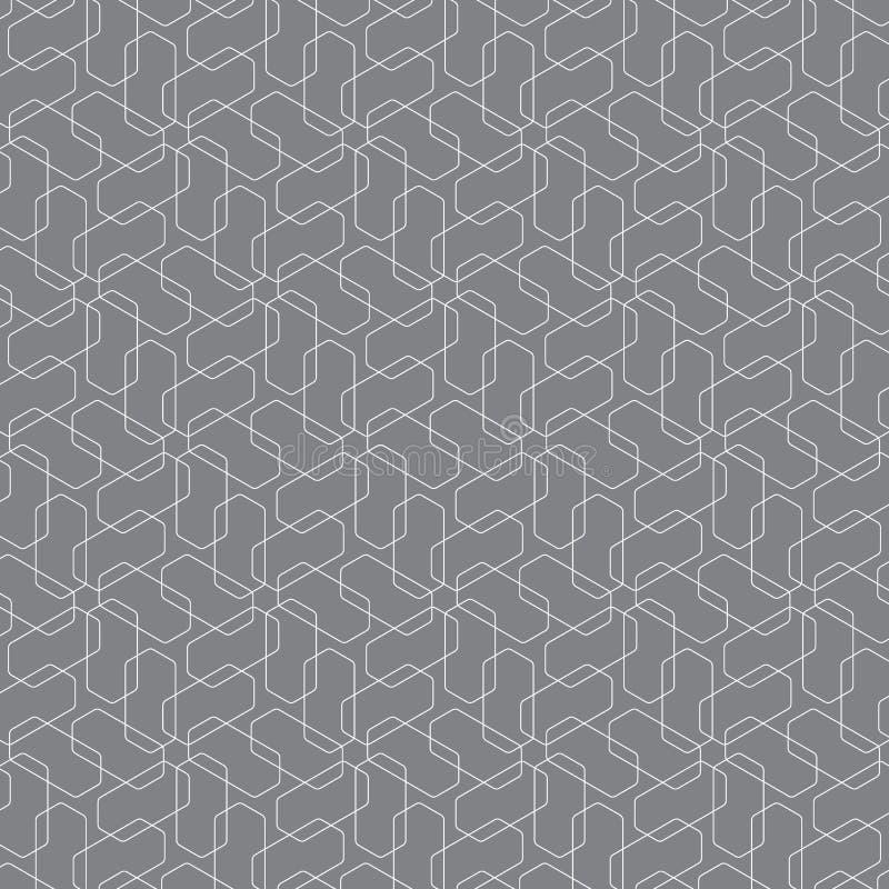 Modelo geométrico del vector, repitiendo forma linear del hexágono Modelo limpio para la tela, papel pintado, impresora stock de ilustración