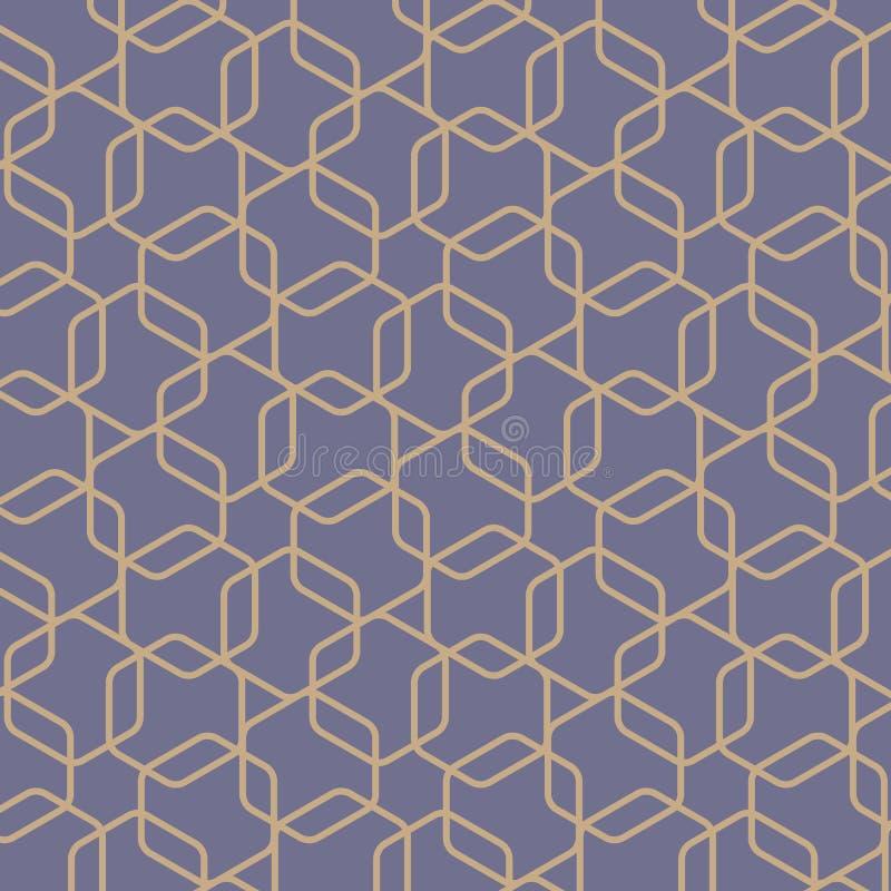 Modelo geométrico del vector, repitiendo geométrico redondeado en esquinas de la forma del hexágono ilustración del vector