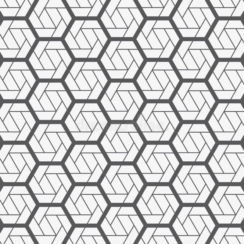 Modelo geométrico del vector Textura elegante moderna con enrejado monocromático Repetición de la línea triangular geométrica y d libre illustration