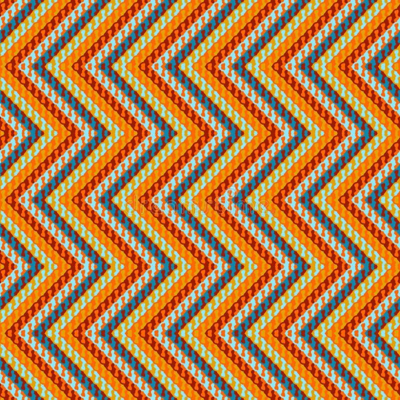 Modelo geométrico del zigzag libre illustration