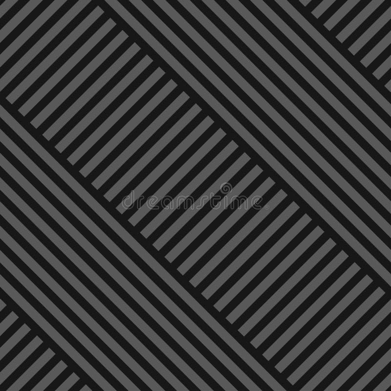 Modelo geométrico diagonal inconsútil del vector - textura rayada gris oscuro Fondo linear sin fin Dise?o creativo libre illustration