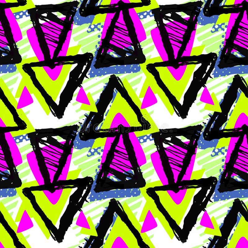 Modelo geométrico enrrollado inconsútil urbano abstracto con blo de acrílico libre illustration