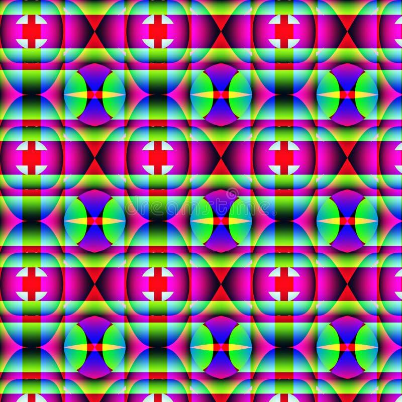 Modelo geométrico extraño psicodélico stock de ilustración