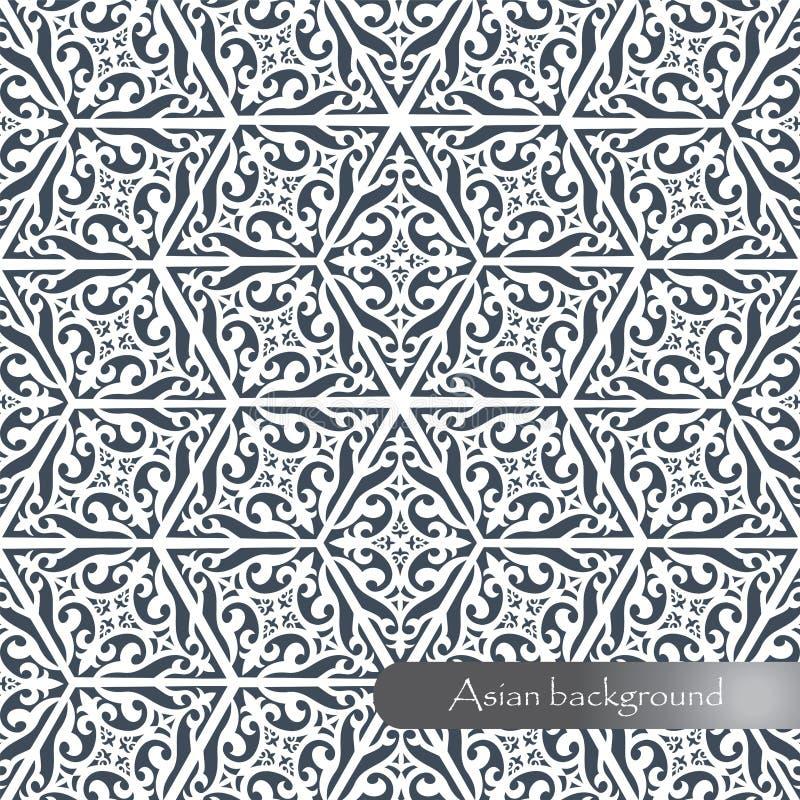 Modelo geométrico hermoso en el estilo asiático Backgro del contexto stock de ilustración