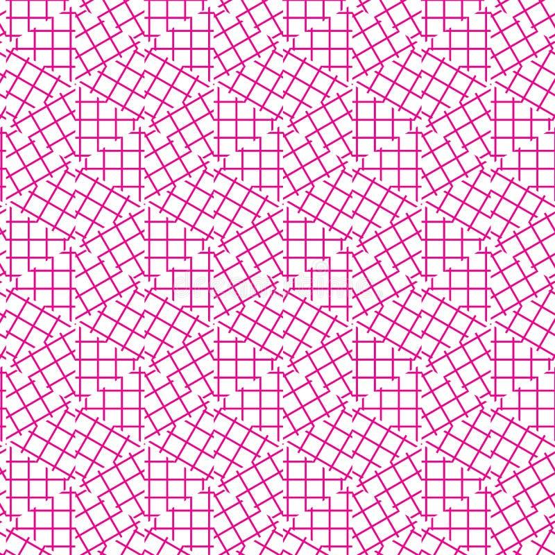 Modelo geométrico inconsútil abstracto del ornamento de las líneas ejemplo de rejilla del vector del fondo del diseño gráfico stock de ilustración
