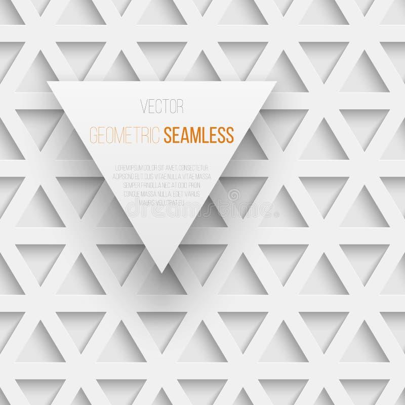 Modelo geométrico inconsútil abstracto del triángulo con libre illustration