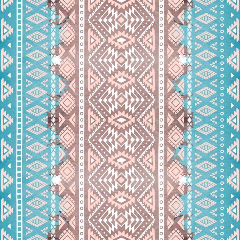 Modelo geométrico inconsútil Adornos étnicos y tribales watercolor libre illustration