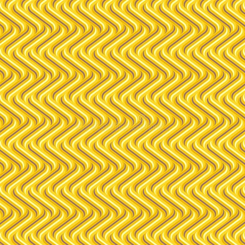 Modelo geométrico inconsútil amarillo de oro con formas curvadas frescas libre illustration