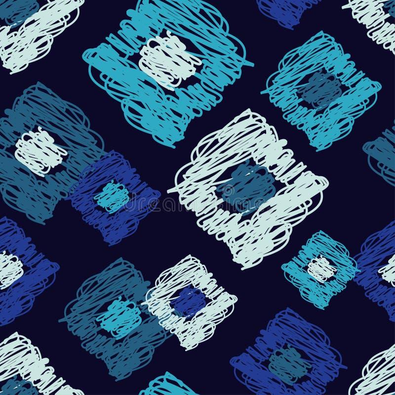 Modelo geométrico inconsútil brushwork Textura del garabato stock de ilustración