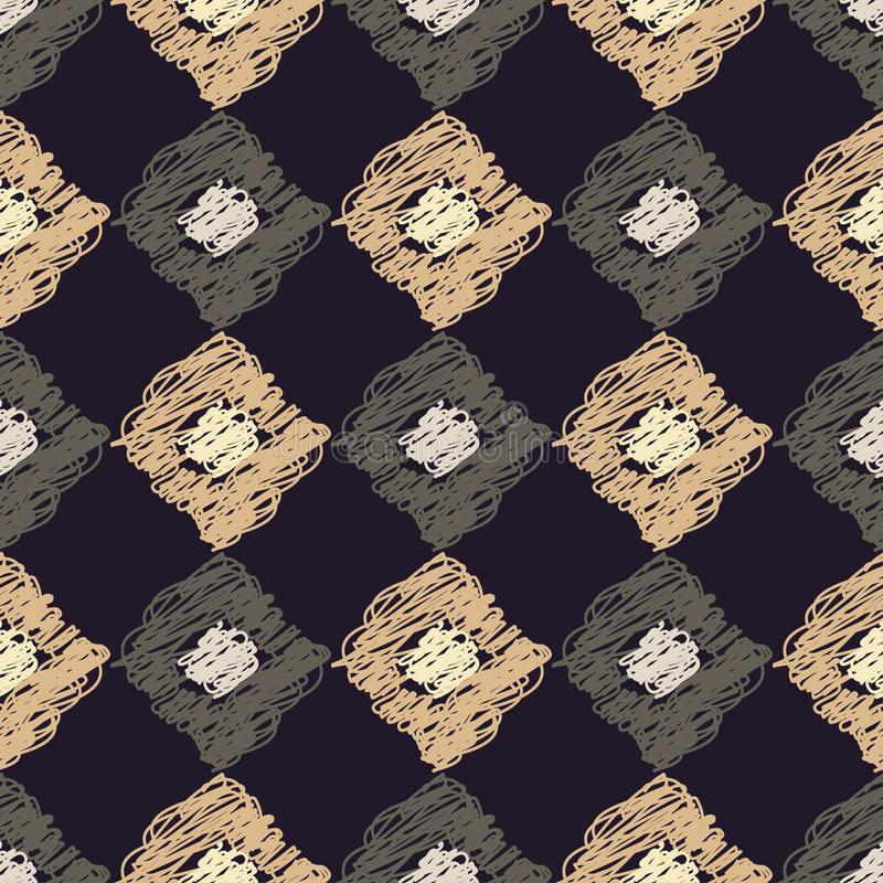 Modelo geométrico inconsútil brushwork Textura del garabato libre illustration