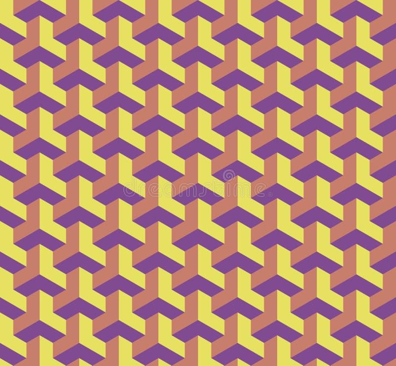 Modelo geométrico inconsútil con los cubos, ejemplo arquitectónico del efecto 3D ilustración del vector