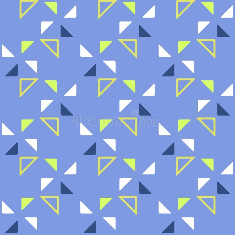 Modelo geométrico inconsútil con los triángulos en un fondo azul ilustración del vector