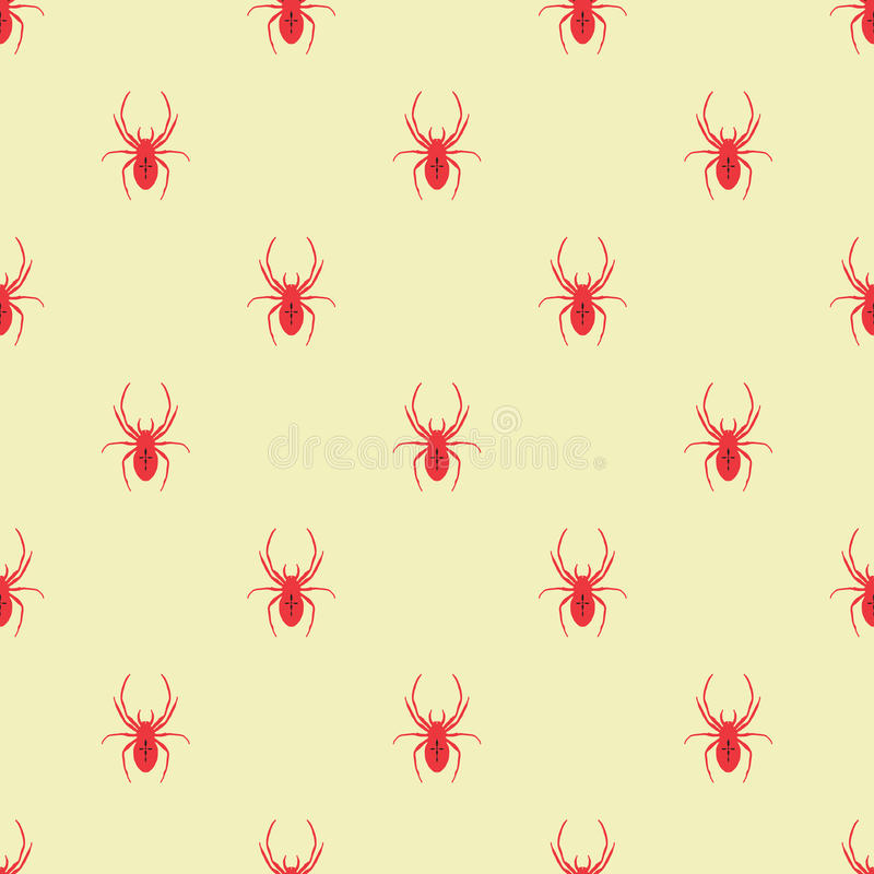 Modelo geométrico inconsútil con una araña libre illustration