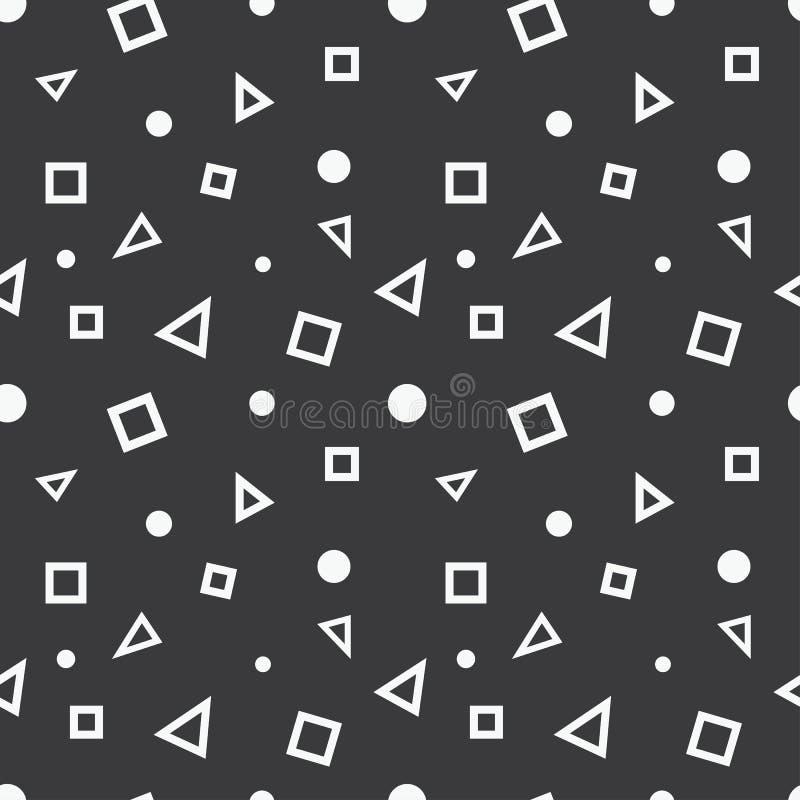 Modelo geométrico inconsútil de los elementos stock de ilustración