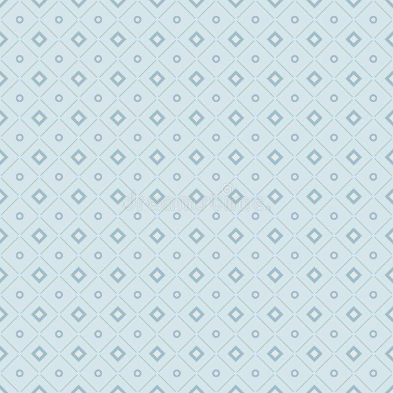 Modelo geométrico inconsútil de Rhombus, de líneas y de círculos Li stock de ilustración