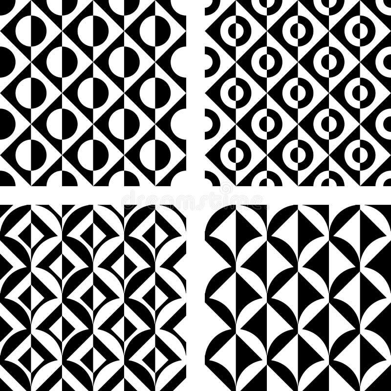 Modelo geométrico inconsútil del diseño stock de ilustración