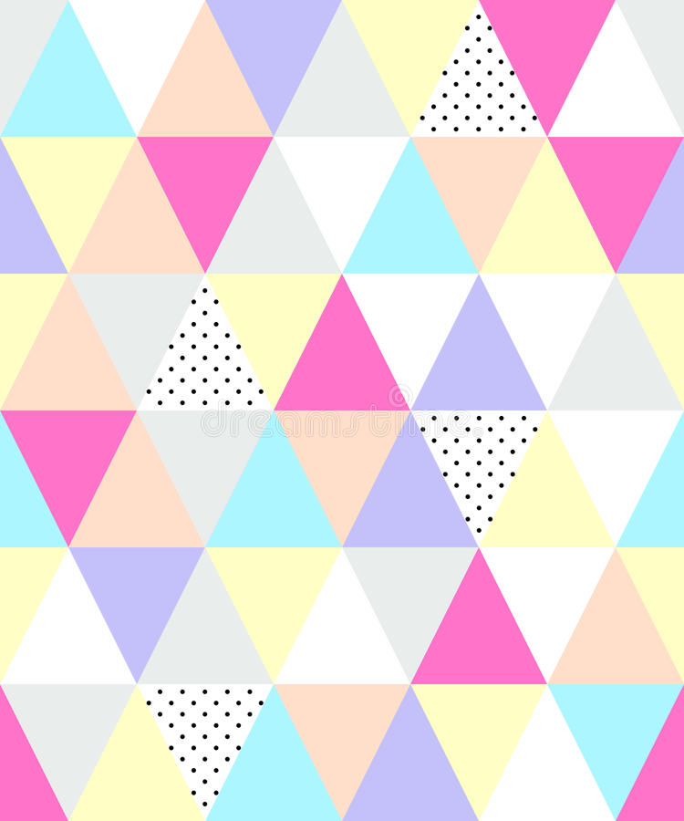 Modelo geométrico inconsútil del estilo lindo de 80 ` s con los triángulos stock de ilustración
