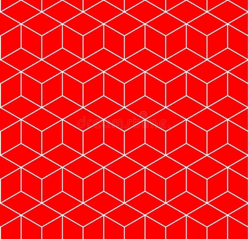 Modelo geométrico inconsútil del hexágono stock de ilustración