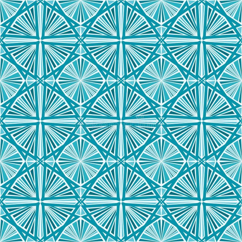 Modelo geométrico inconsútil del papel pintado ilustración del vector