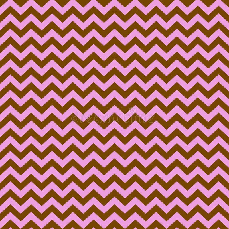 Modelo geométrico inconsútil del rosa y de las líneas quebradas marrones, zigzag, vector stock de ilustración
