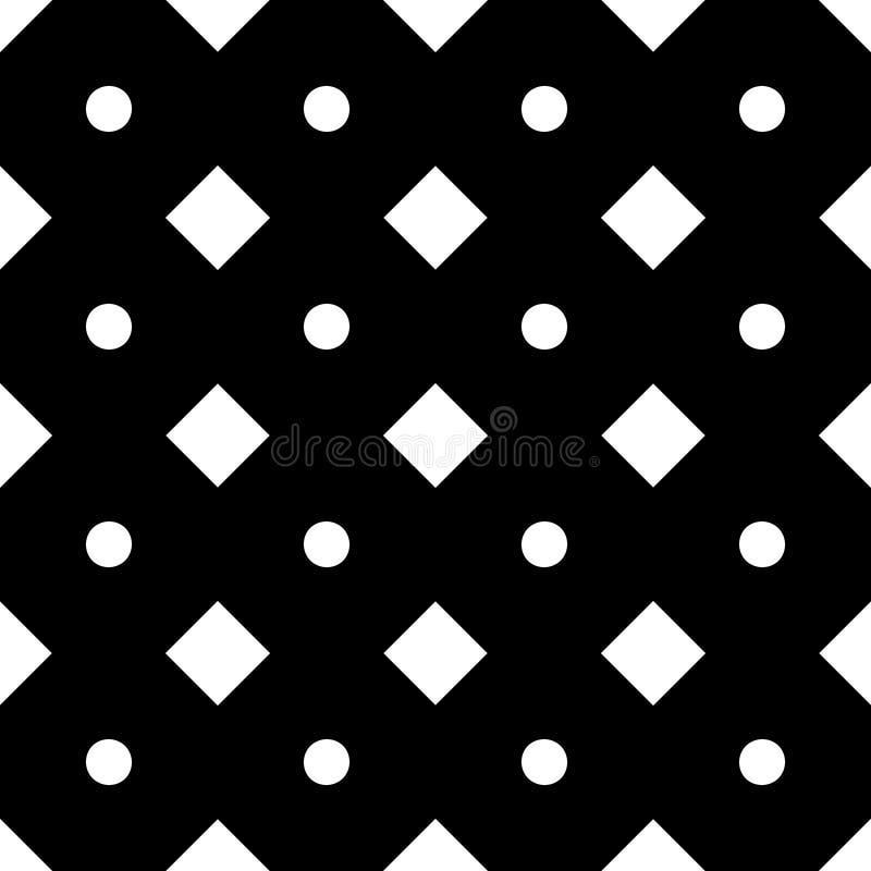Modelo geométrico inconsútil del vector con las pequeñas formas de la polca y del diamante, Rhombus minúsculos, cuadrados stock de ilustración