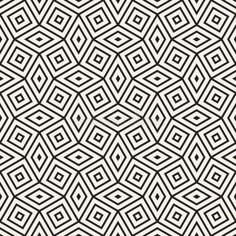 Modelo geométrico inconsútil del vector E r stock de ilustración