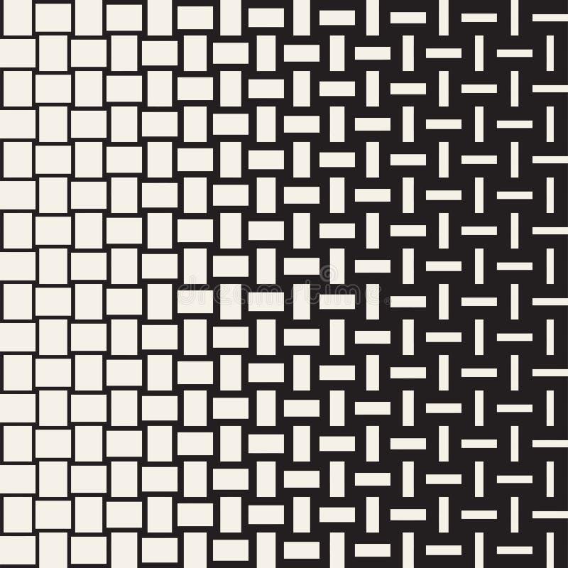 Modelo geométrico inconsútil del vector Transición de semitono del color de la pendiente Líneas tejidas enrejado simple ilustración del vector