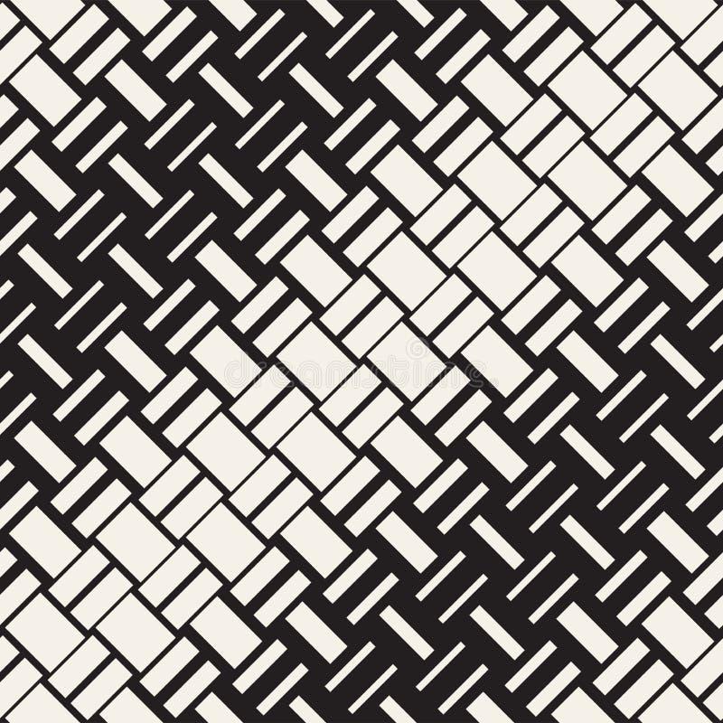 Modelo geométrico inconsútil del vector Transición de semitono del color de la pendiente Líneas tejidas enrejado simple stock de ilustración