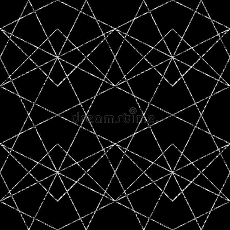 Modelo geométrico inconsútil Fondo clásico abstracto del vector en color blanco y negro stock de ilustración