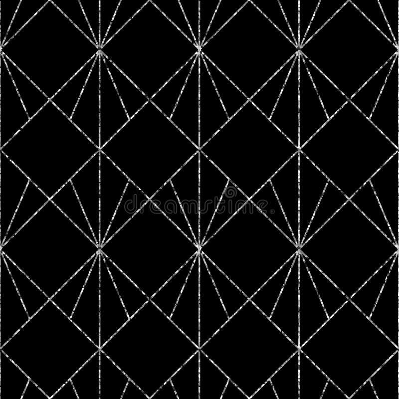 Modelo geométrico inconsútil Fondo del extracto del vector en color blanco y negro ilustración del vector