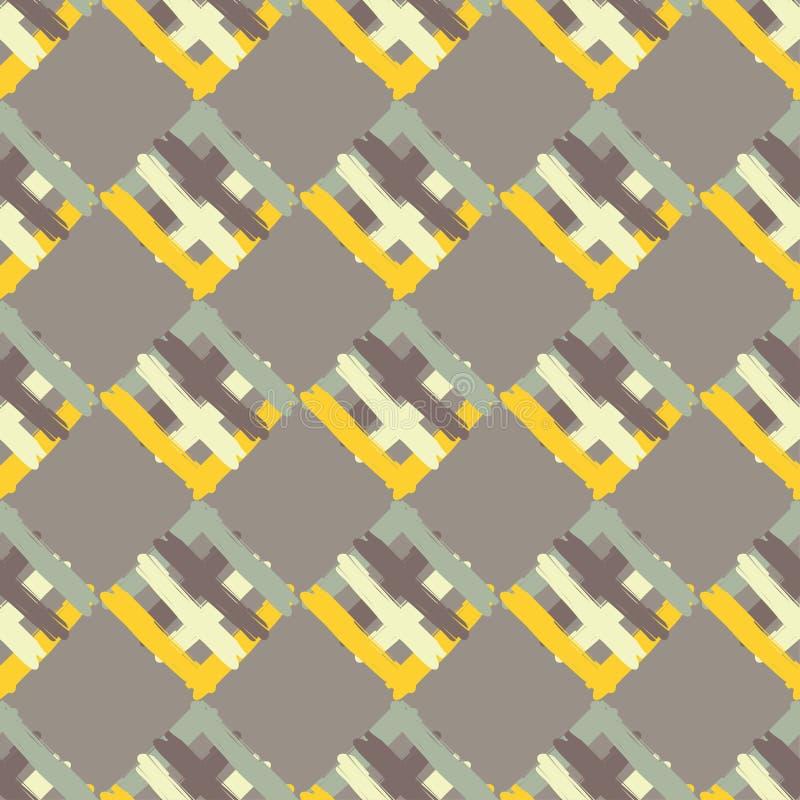 Modelo geométrico inconsútil La textura de las tiras brushwork Textura del garabato libre illustration
