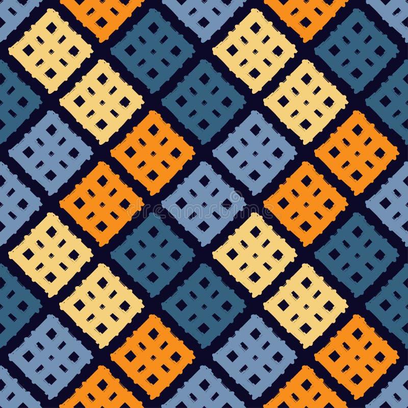 Modelo geométrico inconsútil La textura de las tiras brushwork Textura del garabato ilustración del vector
