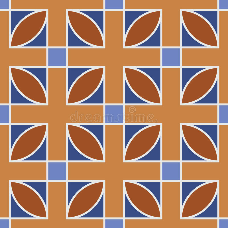 Modelo geométrico inconsútil marrón libre illustration