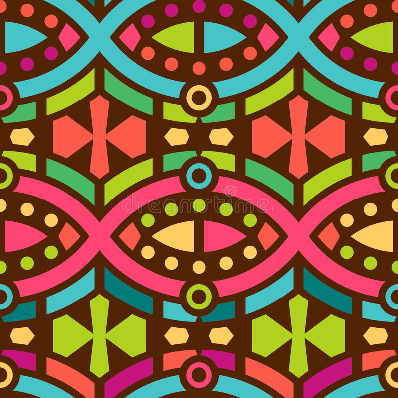 Modelo geométrico inconsútil para el diseño de la materia textil libre illustration
